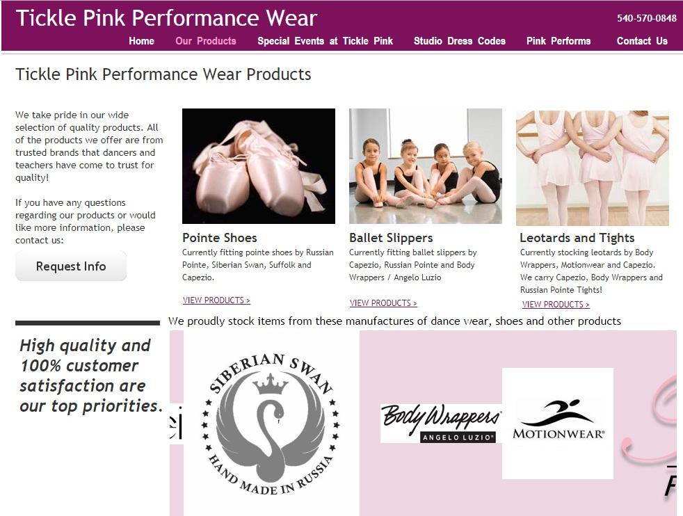 Tickle Pink Performance Wear, Virginia